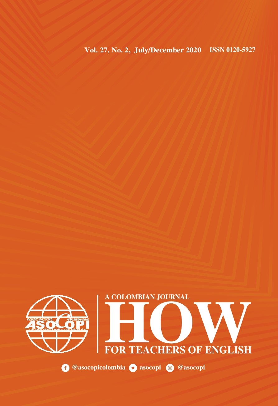 Revista HOW Journal portada volumen 27 número 2 julio a diciembre de 2020 - HOW Journal cover volume 27 number 2 July December